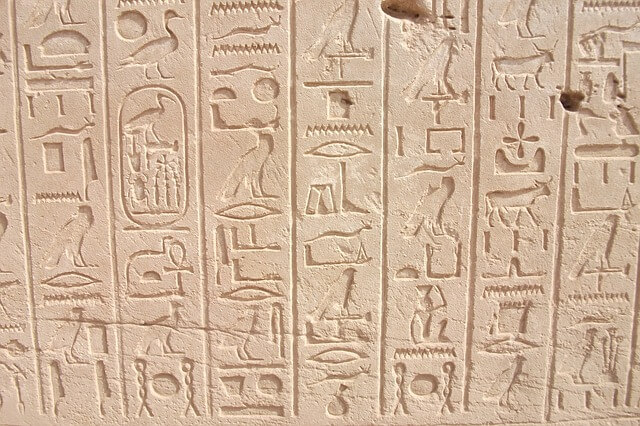 Kamień z Rosetty - hieroglify